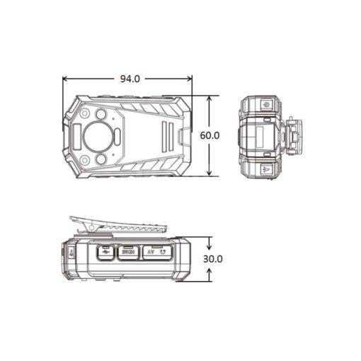 Bodycam Dahua MPT110 - FACE RECOGNITION