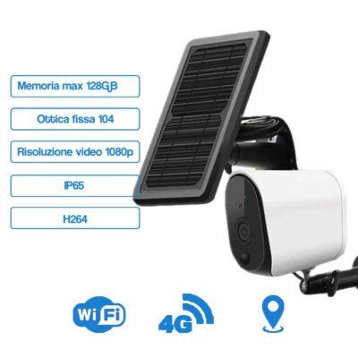Telecamera con Pannello Solare Integrato