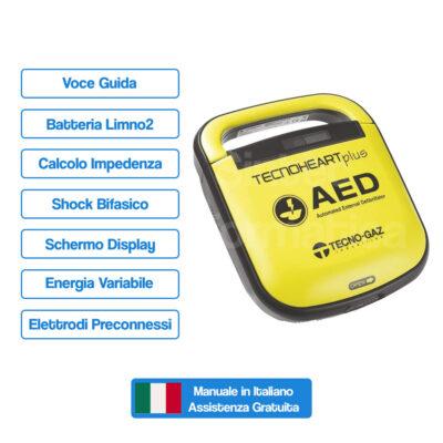 Defibrillatore Technoheart Plus