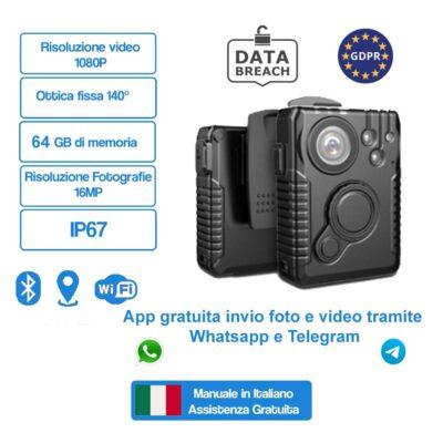 BodyCam Polizia snt-hdbmax4/2